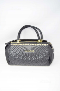 Bag Valentino Faux Leather Black With Studs Gold Plated (no Shoulder Strap) 30x17x17 Cm