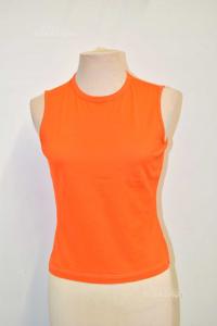 Maglia Donna Kenzo Arancione 100% Cotone Tg.L