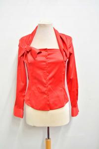 Camicia Donna Nara Camicie Tg. 1 Rossa Tipo Raso Con Fiocco