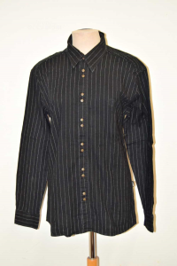 Camicia Uomo Versce Jeans Couture Nera Righe Tg Xxl