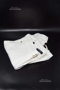 Pantalone Donna Bianco Marciano Guess Tg 40