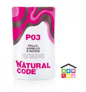 Natural code P03 POLLO, AGNELLO E PATATE busta  0,70g