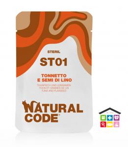Natural code ST01 TONNETTO E SEMI DI LINO busta 0,70g