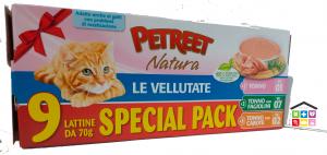 PETREET le vellutate SPECIAL PACK 9 X 0,70g (TONNO,TONNO E FAGIOLINI ,TONNO E CAROTE)