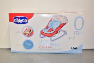 Sdraietta Chicco Soft Relax 0m+ Bianca Blu Fantasia Balene Max. 9kg