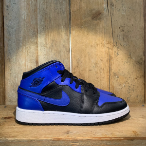 Scarpa Air Jordan 1 Mid (Gs) Blu Royal E Nera