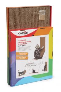 Tiragraffi multifunzionale in cartone per gatti CAMON