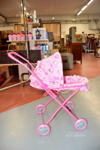 Wheelchair For Dolls Pink