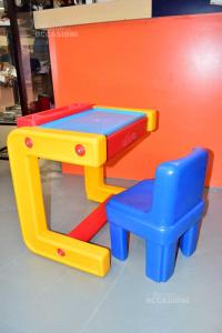 Banco Scuola Chicco + Sedia Plastica