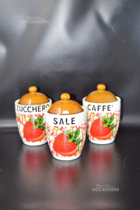 Set Vasi Da Cucina Zucchero Caffè Sale
