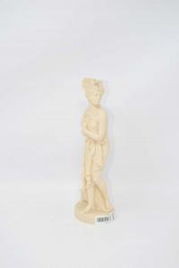 Statua Venere In Pasta Bianca Alta 21 Cm