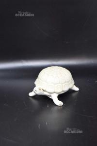 Oggetto Tartaruga In Ceramica 14 X 8 Cm