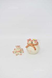 Oggetti Maialini In Ceramica Soprammobili 2 Pezzi