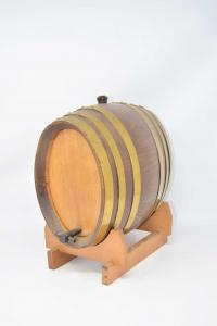 Botte In Legno Con Piedistallo 26x28 Cm