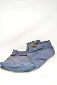 Bermuda Uomo Woolrich Blu Tg. 36 Con Tasconi