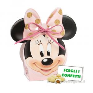 Portaconfetti Minnie Ballerina Rosa con orecchie 5.5x4x10.5 cm - Scatole battesimo bimba