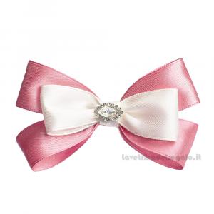 Fiocco chiudipacco Rosa con punto luce 9 cm - Decorazioni bomboniere