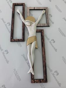 Crocifisso Estego in legno da parete Made in Italy 9604106.1