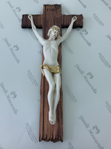 Crocifisso Estego in legno da parete Made in Italy 9604111
