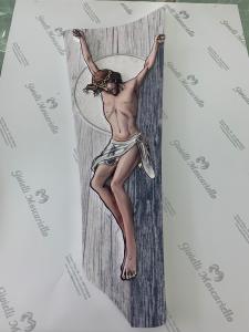 Crocifisso Estego in legno da parete Made in Italy 051011.2