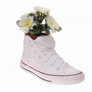 Vaso Portaoggetti Portapenne Sneakers Jody in resina bianca Made in Italy