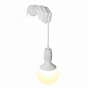 Lampada da parete Millumina in resina bianca Made in Italy