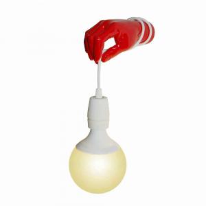 Lampada da parete Millumina in resina rosso lucido Made in Italy