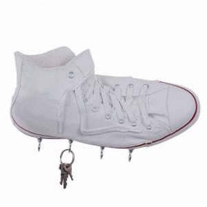 Portachiavi da parete Sneakers Richie in resina bianca deco Made in Italy