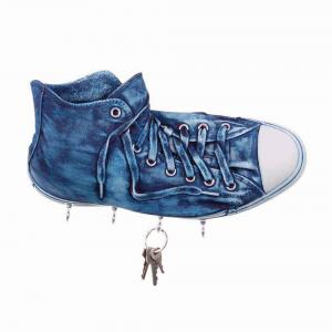 Portachiavi da parete Sneakers Richie in resina blue jeans Made in Italy