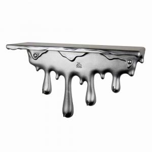 Mensola portachiavi Sgocciola in resina alluminio Made in Italy