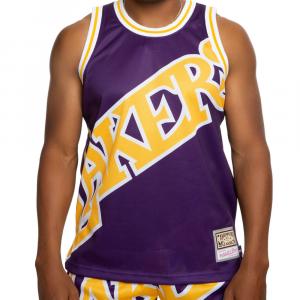 Mitchell e Ness Canotta Lakers Viola da Uomo