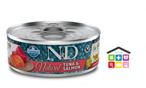 Farmina gatto N&D NATURAL tonno e salmone 0,80g