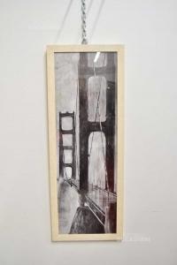 Quadro Ponte 36x96 Cm Stampa In Bianco E Nero