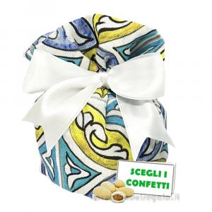 Portaconfetti fantasia Maiolica con fondo rigido 14x14x8 cm - Sacchetti matrimonio