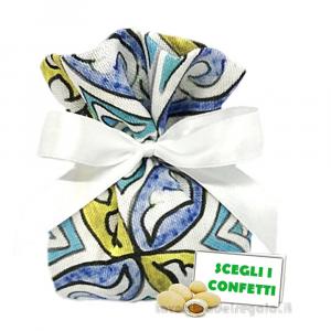 Portaconfetti fantasia Maiolica 13x14 cm - Sacchetti matrimonio