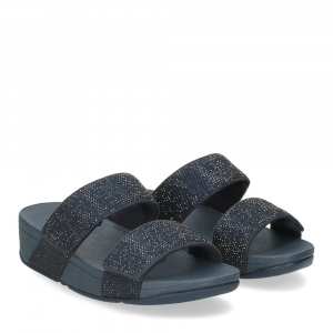 Fitflop Mina Crystal slides midnight navy