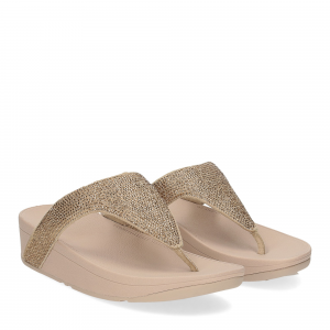 Fitflop Lottie Shimmer crystal artisan gold
