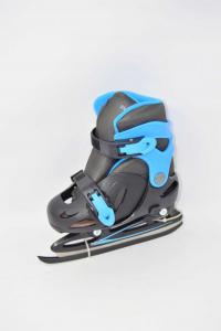 Playlife - Cyclone Blue Black,ice Skates From Boy N°.26-30 New