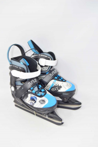 Powerslide New Cyclone Blue Gray Billy,ice Skates From Boy N°.30-33 New