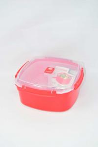 Contenitore Pengo Cuocivapore microwave Rosso Nuovo