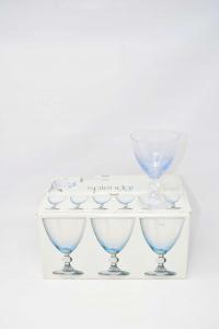 HOME Confezione 6 Calici In Vetro Splendor Cielo Acqua Cl25 Calici Vino Arredo Tavola