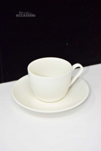 6 Tazzine In Ceramica Color Avorio Nuove H&H