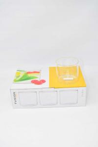H&H Confezione 6 Bicchieri Borosilicato Fusion Vino Cc300 Trasparente Nuovo