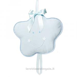 Fiocco nascita Stellina Celeste in cotone 42x42 cm - Fiocchi nascita bimbo