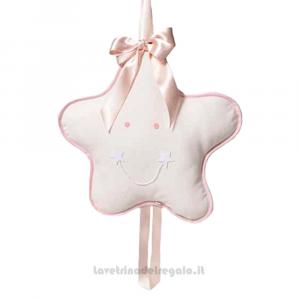 Fiocco nascita Stellina Rosa in cotone 42x42 cm - Fiocchi nascita bimba