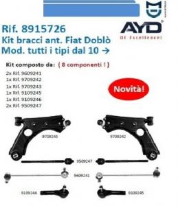 Kit Completo Avantreno Sospensione Anteriore Fiat Nuovo Doblo'