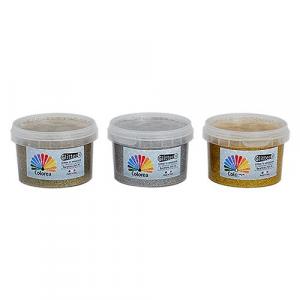 GLITTER PRISMATICI PER DECORAZIONI ml.250 - color argento/oro