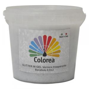GLITTER PRISMATICI IN VERNICE TRASPARENTE lt.0,90 - color argento
