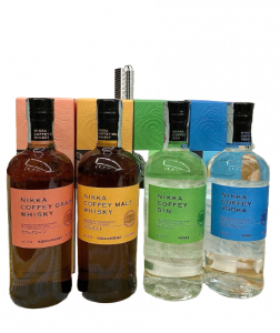 Nikka Coffey Box 4 Bott. cl. 70 - Gin, Vodka, Coffey Malt, Coffey Grain-