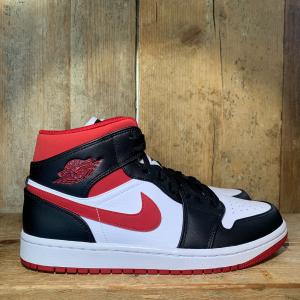 Scarpa Nike Air Jordan 1 Mid White Gym Red Black